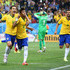 Hernanes Neymar Photos - Neymar of Brazil (C) celebrates his second goal with Hernanes in the second half during the 2014 FIFA World Cup Brazil Group A match between Brazil and Croatia at Arena de Sao Paulo on June 12, 2014 in Sao Paulo, Brazil. - Brazil v Croatia: Group A