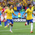 Hernanes Neymar Photos - Neymar of Brazil (R) celebrates his second goal with Hernanes in the second half during the 2014 FIFA World Cup Brazil Group A match between Brazil and Croatia at Arena de Sao Paulo on June 12, 2014 in Sao Paulo, Brazil. - Brazil v Croatia: Group A