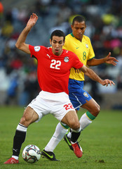 Mohamed Aboutrika Brazil v Egypt - FIFA Confederations Cup