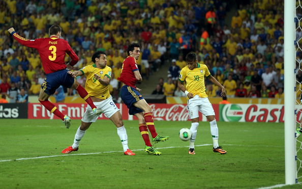 Brazil v spain final in this photo fred fred of brazil scores the