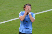 Diego Forlan of Uruguay reacts during the FIFA Confederations Cup Brazil 2013 Semi Final match between Brazil and Uruguay at Governador Magalhaes Pinto Estadio Mineirao on June 26, 2013 in Belo Horizonte, Brazil.