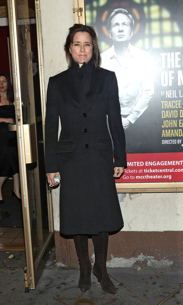 "Tea Leoni attends the opening night of ""The Break of Noon"" at Lucille Lortel Theatre on November 22, 2010 in New York City."