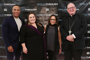 Producer DeVon Franklin, actress Chrissy Metz, director Roxann Dawson and Cardinal Timothy Dolan attend a special New York screening of 'Breakthrough' at The Sheen Center on March 11, 2019 in New York City.