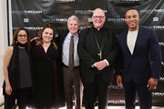Director Roxann Dawson, actress Chrissy Metz, William Spencer Reilly, Executive Director, Sheen Center for Thought and Culture, Cardinal Timothy Dolan and producer DeVon Franklin attend a special New York screening of 'Breakthrough' at The Sheen Center on March 11, 2019 in New York City.