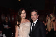 Ingrid Vandebosch (L) and Jeff Gordon attend the Hot Pink Party hosted by the Breast Cancer Research Foundation at Park Avenue Armory on May 15, 2019 in New York City.