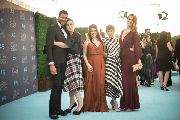 An Alternative View of the 21st Annual Critics' Choice Awards [image,event,fashion,design,dress,pattern,fun,ceremony,textile,tartan,photography,jeffrey bowyer-chapman,sarah gertrude shapiro,constance zimmer,shiri appleby,critics choice awards,alternative view,editors note,filters,barker hangar]