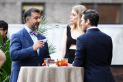 """(L-R) President of Breguet North America Ahmad Shahriar, Megan Irminger, and Ian Bohen attend the Breguet """"Classic Tour"""" at Carnegie Hall on July 12, 2018 in New York City."""