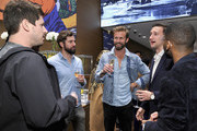 (L-R) Stephen Lybeck, Hamish Lyons, Tom Bull, Marcel Floruss and Brandon Bryant attend Breitling Boutique Los Angeles welcomes Armie Hammer and Elivs Mitchell to unveil the all-new Breitling Premier Collection of watches at Westfield Century City on November 29, 2018 in Century City, California.