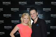 Actors Megan Hilty and Brian Gallagher attend Bremont Watches NYC Boutique opening with unveiling of America's Cup at Bremont Boutique on June 23, 2015 in New York City.
