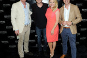 (L-R) Co-Founder Bremont Watch Company Nick English, Brian Gallagher, Megan Hilty and Co-Founder Bremont Watch Company Giles English attend Bremont Watches NYC Boutique opening with unveiling of America's Cup at Bremont Boutique on June 23, 2015 in New York City.