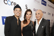 (L-R) Evan Ross, Linell Shapiro and  Robert Shapiro attend Brent Shapiro Foundation Summer Spectacular 2019 at The Beverly Hilton Hotel on September 21, 2019 in Beverly Hills, California.