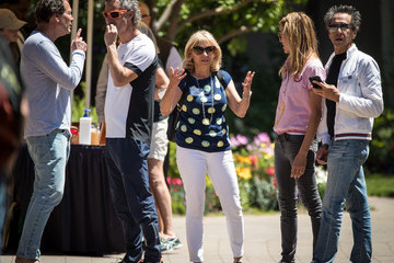 Brian Grazer Veronica Smiley Annual Allen And Co. Meeting In Sun Valley Draws CEO's And Business Leaders To The Mountain Resort Town