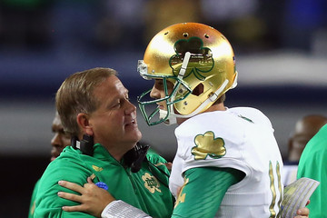 Brian Kelly Tommy Rees Notre Dame v Arizona State