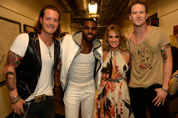 Brian Kelly Tyler Hubbard 2014 CMT Music Awards - Backstage & Audience