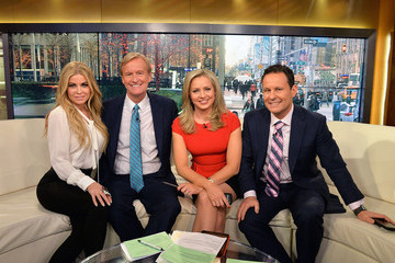 Brian Kilmeade Carmen Electra Visits 'Fox & Friends'