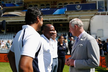 Brian Lara The Prince of Wales Launches the ICC Champions Trophy