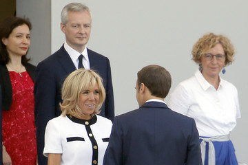 Brigitte Macron 2018 Bastille Day Military Ceremony On The Champs Elysees In Paris
