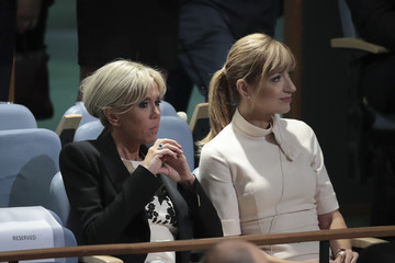 Brigitte Macron World Leaders Address Annual United Nations General Assembly