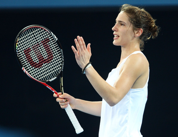 Andrea Petkovic Andrea Petkovic of Germany voices her frustration to the
