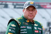 Ryan Newman, driver of the #31 Bass Pro Shops/Cabela's Chevrolet, stands by his car during practice for the Monster Energy NASCAR Cup Series Bass Pro Shops NRA Night Race at Bristol Motor Speedway on August 17, 2018 in Bristol, Tennessee.