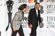 Louis Tomlinson and Liam Payne from One Direction attend the BRIT Awards 2016 at The O2 Arena on February 24, 2016 in London, England.