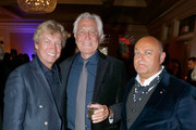 (L-R) Tv personality Nigel Lythgoe, actor George Lazenby and BAFTA LA Chairman of the Board Nigel Daly attend BritWeek's 10th Anniversary VIP Reception & Gala at Fairmont Hotel on May 1, 2016 in Los Angeles, California.