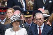 Prime Minister, Theresa May and Philip May attend a memorial service in Bayeux Cemetery on June 06, 2019 in Bayeux, France. Veterans and families gathered in Normandy to commemorate D-Day's 75th anniversary. It has been announced that 16 countries had signed a historic proclamation of peace to ensure the horrors of the Second World War are never repeated. The text has been agreed by Australia, Belgium, Canada, Czech Republic, Denmark, France, Germany, Greece, Luxembourg, Netherlands, Norway, New Zealand, Poland, Slovakia, the United Kingdom and the United States of America.