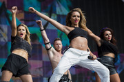 Perrie Edwards; Jade Thirlwall and Jesy Nelson of Little Mix perform on stage at British Summer Time Festival at Hyde Park on July 13, 2014 in London, United Kingdom.