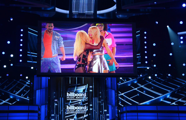 2015 Billboard Music Awards - Show [entertainment,performance,stage,performing arts,display device,event,musical theatre,heater,performance art,theatre,artists,britney spears,iggy azalea,billboard music awards,stage screen,las vegas,nevada,mgm grand garden arena,show]