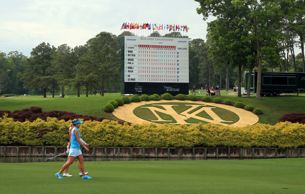 Kingsmill Championship - Round One [sport venue,recreation,grass,sports equipment,lawn,competition event,golf course,leisure,championship,competition,lexi thompson,brittany lincicome,green,hole,kingsmill resort,williamsburg,kingsmill championship,geico,round,round]