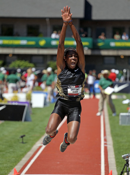 Brittney Reese Brittney Reese of USA wins long jump women at the IAAF ...