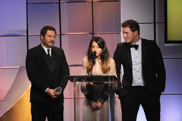Amy Poehler Nick Offerman Broadcast Television Journalists Association Second Annual Critics' Choice Awards - Show