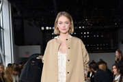 Model Lindsay Ellingson attends the Brock Collection front row during New York Fashion Week: The Shows at Gallery I at Spring Studios on February 8, 2019 in New York City.