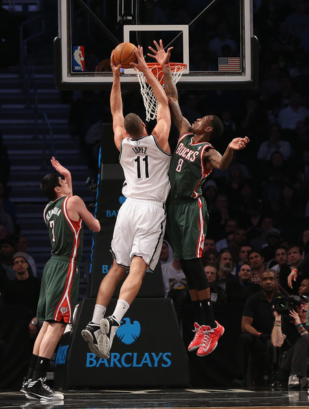 Larry Sanders Larry Sanders vs Brook Lopez