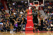 Kevin Garnett #2 of the Brooklyn Nets grabs a loose ball against the Washington Wizards duirng the first half at Verizon Center on January 16, 2015 in Washington, DC. NOTE TO USER: User expressly acknowledges and agrees that, by downloading and or using this photograph, User is consenting to the terms and conditions of the Getty Images License Agreement.