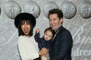 Renee Morrison and Matthew Morrison attend Brooks Brothers Annual Holiday Celebration To Benefit St. Jude at The West Hollywood EDITION on December 07, 2019 in West Hollywood, California.