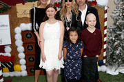 (L-R) Actress Elizabeth Chambers, fashion designer Rachel Zoe, producer Rodger Berman, and St. Jude kids attend Brooks Brothers Host Annual Holiday Celebration in Los Angeles to Benefit St. Jude at the Beverly Wilshire Four Seasons Hotel on December 09, 2018 in Beverly Hills, California.