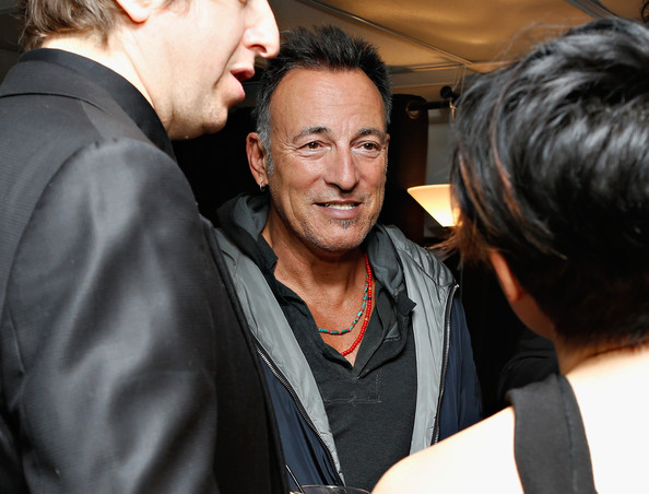 Bruce Springsteen (EXCLUSIVE ACCESS)  Bruce Springsteen visits backstage following Rita Wilson's performance at 54 Below on April 15, 2013 in New York City.