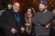 Robert Jones, Rebecca Cammaratta and James Harris attend Brunch with the Brits during the 2018 Sundance Film Festival on January 21, 2018 in Park City, Utah.