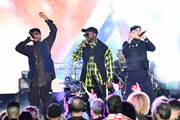 (L-R) Apl. De. Ap, Will.I.Am and Taboo of the Black Eyed Peas perform onstage at Night Two of BUDX Miami by Budweiser on February 01, 2020 in Miami Beach, Florida.