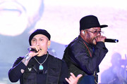 (L-R) Taboo and Apl. De. Ap of the Black Eyed Peas perform onstage at Night Two of BUDX Miami by Budweiser on February 01, 2020 in Miami Beach, Florida.