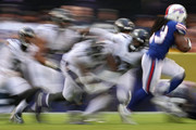Running back Chris Ivory #33 of the Buffalo Bills rushes against the Baltimore Ravens during the second half at M&T Bank Stadium on September 9, 2018 in Baltimore, Maryland.