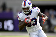 Chris Ivory #33 of the Buffalo Bills carries the ball in the first quarter of the game against the Minnesota Vikings at U.S. Bank Stadium on September 23, 2018 in Minneapolis, Minnesota.