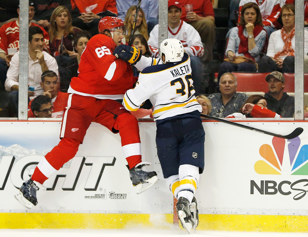 danny dekeyser in buffalo sabres v detroit red wings 1 of 1 zimbio. Black Bedroom Furniture Sets. Home Design Ideas