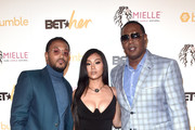 (L-R) Romeo Miller, Cymphonique Miller and Master P attend the BETHer Awards, presented by Bumble, at The Conga Room at L.A. Live on June 21, 2018 in Los Angeles, California.