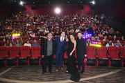 Lorenzo di Bonaventura, John Cena, Hailee Steinfeld and Travis Knight attend a fan screening for Paramount Pictures' film 'Bumblebee' on December 14, 2018 in Beijing, China.