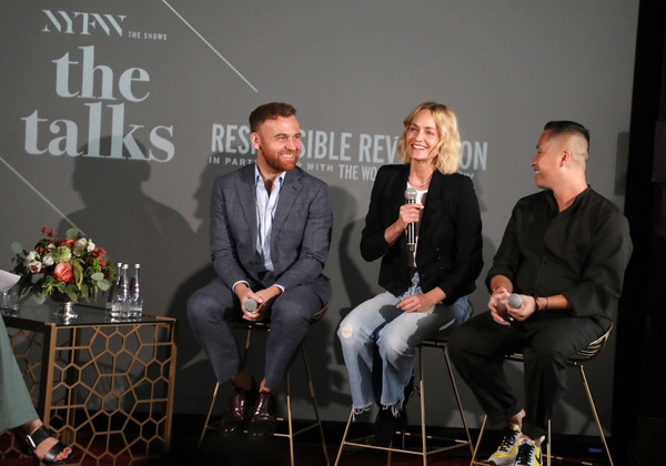 IMG NYFW: The Shows 2019 PARTNERS - September 6 [the shows 2019,responsible revolution,event,conversation,businessperson,img model activist,phillip lim,dean of fashion,amber valetta,burak cakmak,nyfw,l-r,parsons school of design]