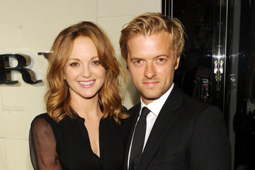 Jayma Mays Adam Campbell Burberry Body Event Hosted By Christopher Bailey And Rosie Huntington-Whiteley In Beverly Hills - Red Carpet