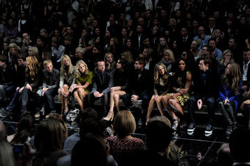 Serena Williams Andy Murray Burberry Prorsum - Front Row LFW Spring/Summer 2011