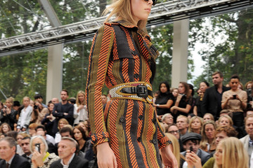 Edie Campbell Burberry Spring Summer 2012 Womenswear Show - Front Row And Backstage